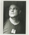 "Movie/TV Memorabilia:Photos, Smaller Close-up of Marlon Brando as Colonel Kurtz by Mary EllenMark. An 8"" x 10"" b&w glossy of the close-up of Marlon Bran..."