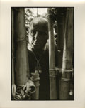 "Movie/TV Memorabilia:Photos, Marlon Brando Behind Bamboo Photo by Mary Ellen Mark. An 11"" x 14"" b&w silver gelatin print of Marlon Brando in costume as C..."