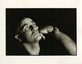 "Movie/TV Memorabilia:Photos, Marlon Brando in Shadows Photo by Mary Ellen Mark. A 14"" x 11""b&w silver gelatin print of a brooding Marlon Brando, takenb..."