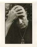 "Movie/TV Memorabilia:Photos, Marlon Brando ""Apocalypse Now"" Set Photo by Mary Ellen Mark. Apiercing 11"" x 14"" b&w silver gelatin print of a close-up of..."