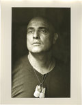 "Movie/TV Memorabilia:Photos, Close-up of Marlon Brando as Colonel Kurtz by Mary Ellen Mark. An11"" x 14"" silver gelatin print close-up of Marlon Brando a..."