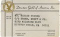 Movie/TV Memorabilia:Memorabilia, Marlon Brando's Director's Guild of America Membership Card.Brando's unsigned DGA membership card for the 1972-73. Despite ...