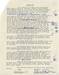 Movie/TV Memorabilia:Autographs and Signed Items, Marlon Brando Signed Design Contract for his Tetiaroa Home. An11-page AIA Standard From of Agreement Between Owner and Arch...
