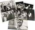 "Movie/TV Memorabilia:Photos, Set of Vintage Sammy Photos. Great set of six b&w 8"" x 10""photos and two b&w 11"" x 14"" photos of Sammy with friends andfam..."
