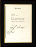 "Movie/TV Memorabilia:Autographs and Signed Items, Mounted ""Mod Squad"" Letter Signed by Harve Bennett. A copy of atyped, signed letter on personal stationery, undated, from S..."