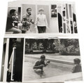 "Movie/TV Memorabilia:Photos, Vintage Sammy Photos. One b&w 8"" x 10"" and 11 b&w 11"" x 14""photos of Sammy with friends (including in the pool with Jerry L..."