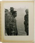 Movie/TV Memorabilia:Photos, Sammy's 1st Air Cavalry Vietnam Photo Album and Other Photos. This large white photo album, emblazoned with the insignia of ...