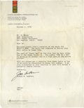 Movie/TV Memorabilia:Autographs and Signed Items, Joseph Barbera Signed Letter to Sammy Davis Jr.'s Agent. Single-page, typed letter on Hanna-Barbera letterhead from presiden...