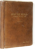 "Movie/TV Memorabilia:Autographs and Signed Items, Sammy Davis Jr. Annotated ""Stop the World"" Script. Sammy DavisJr.'s personal leatherbound copy of the play for a remake of ..."