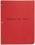 "Movie/TV Memorabilia:Memorabilia, Sammy's Personal Copy of the ""Cannonball Run II"" Script. Sammy'scopy of the final draft of the script for the 1984 action-..."
