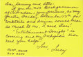 """Movie/TV Memorabilia:Autographs and Signed Items, Lucille Ball Handwritten Card to Sammy Davis Jr. and AltoviseDavis. Yellow, 6"""" x 4"""" card with a handwritten invitation fro..."""