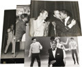 "Movie/TV Memorabilia:Photos, Vintage Photos of Sammy with Celebrity Friends. Set of five greatb&w 11"" x 14"" photos of Sammy and various famous pals, inc..."