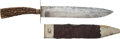 Edged Weapons:Knives, Massive Sheffield Bowie Knife and Scabbard, Circa 1850....
