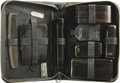 """Movie/TV Memorabilia:Props, Desi Arnaz's Prop Grooming Set from """"I Love Lucy."""" his black leather case unzips to reveal a clothes brush, comb, nail file,..."""