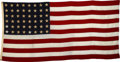 "Movie/TV Memorabilia:Props, United States Flag Used in ""Sands of Iwo Jima."" This U.S. flag with 48 stars was used in the 1949 war movie Sands of Iwo J..."