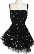 Movie/TV Memorabilia:Costumes, Marilyn Monroe's Black Polka Dot Dress. This black layered-tulledress with white polka dots and spaghetti straps comes rom ...