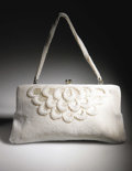 Movie/TV Memorabilia:Costumes, Marilyn's White Beaded Purse. Small purse covered by tiny whitebeads and decorated with an elaborate design, owned and carr...