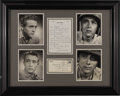 "Movie/TV Memorabilia:Photos, James Dean Photos by Wilson Millar. Set of four original b&w 8"" x 10"" photo portraits of Dean taken by Hollywood-based photo..."