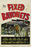 "Movie/TV Memorabilia:Posters, ""Fixed Bayonets"" (20th Century Fox, 1951) and James Dean TelevisionPoster. One Sheet (27"" X 41"") and Poster (20"" X 28""). Th... (Total:2 Items)"