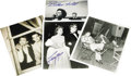 "Movie/TV Memorabilia:Autographs and Signed Items, Photos Signed by Famous Friends of James Dean. Four b&w 8"" x10"" photos of Dean and his acquaintances, signed by the likes o..."