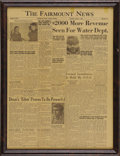 "Movie/TV Memorabilia:Memorabilia, Fairmount News ""East of Eden"" Movie Review. An April 7, 1955,edition of The Fairmount News featuring a front-pagerevie..."