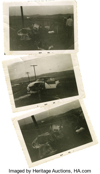 Rare Original Photos from the Accident that Killed James