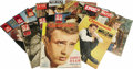 Movie/TV Memorabilia:Memorabilia, Vintage French James Dean Magazines. Fourteen vintage Frenchmagazines with James Dean covers and stories, published between...