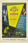 "Movie/TV Memorabilia:Posters, ""East of Eden"" (Warner Brothers, 1955). One Sheet (27"" X 41""). Thiswas the only film of James Dean's that was released in h..."