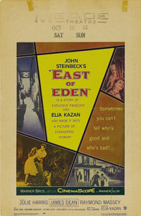 """East of Eden"" (Warner Brothers, 1955). Window Card (14"" X 22""). Elia Kazan's big screen adaptation..."