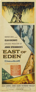 "Movie/TV Memorabilia:Posters, ""East of Eden"" (Warner Brothers, 1955). Insert (14"" X 36""). In hisfilm debut, James Dean stunned the world of drama with hi..."