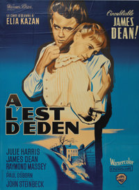 """East of Eden"" (Warner Brothers, 1955). French Grande (47"" X 63""). Legendary director Elia Kazan gui..."