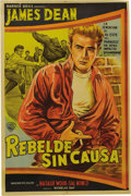 "Movie/TV Memorabilia:Posters, ""Rebel Without a Cause"" (Warner Brother, 1955). Argentinean OneSheet (29"" X 43""). This poster has fold wear and separations..."
