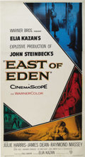 "Movie/TV Memorabilia:Posters, ""East of Eden"" (Warner Brothers, 1955). Three Sheet (41"" X 81"").Like all three sheets of this era, this original release po..."