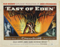 "Movie/TV Memorabilia:Posters, ""East of Eden"" (Warner Brothers, 1955). Half Sheet (22"" X 28"").This rolled original release half sheet has pinholes in the ..."