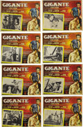"Movie/TV Memorabilia:Posters, James Dean Mexican ""Giant"" and ""Rebel Without a Cause"" Lobby CardLot (Warner Brothers, 1955/1956). Lobby Card Sets of Eight...(Total: 24 Items)"