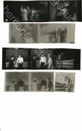 "Movie/TV Memorabilia:Photos, Contact Sheet of Five Shots from ""Rebel"" and Negatives. Niceassortment of Rebel moments, all with James Dean,including..."