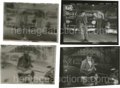 """Movie/TV Memorabilia:Photos, Two Contact Proof Sheets from """"Rebel"""" with Negatives. Two sharp shots, one of Jimmy with his car and another of Dean with ca... (Total: 2 )"""