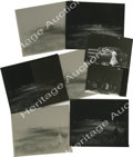 """Movie/TV Memorabilia:Photos, Three Photos with Negatives and Two Contact Proofs from the """"Chickie Race"""" of """"Rebel"""" with Negatives. It's one of the darkes... (Total: 5 )"""