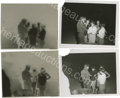 "Movie/TV Memorabilia:Photos, Two Photos of James Dean and Girls from ""Rebel"" with Negatives.These great candid shots show Jimmy, during night shooting, ...(Total: 2 )"