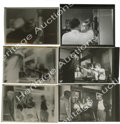 "Movie/TV Memorabilia:Photos, Three Contact Sheet Proofs of James Dean from ""Rebel"" with Negatives..Three shots from the police station scene, two of them... (Total: 3 )"