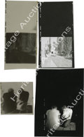 """Movie/TV Memorabilia:Photos, Two Contact Sheet Proofs of James Dean from """"Rebel' with Negatives. There are two stunners in his lot: Jimmy and Natalie run... (Total: 2 )"""