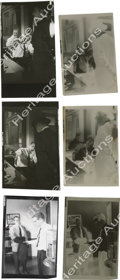 """Movie/TV Memorabilia:Photos, Two Contact Sheet Proofs and One Copy of James Dean Pictures in""""Rebel"""" with Negatives. This lot offers a trip to the police...(Total: 3 )"""