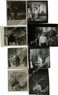 "Movie/TV Memorabilia:Photos, Four Contact Proofs of James Dean and Natalie Wood in ""Rebel"" withNegatives. Two shots of Jimmy in front of the observatory...(Total: 4 )"