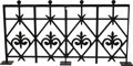 "Movie/TV Memorabilia:Props, Wrought Iron Parapet Section from ""Giant."" A 65"" x 32"" piece of thewrought iron parapet section from the Reata home feature..."
