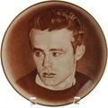 "Movie/TV Memorabilia:Memorabilia, James Dean ""We Will Remember"" Commemorative Plate. An 8.5"",sepia-toned commemorative James Dean plate, #83 in a limited edi..."