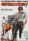 """Movie/TV Memorabilia:Posters, """"Giant"""" (Warner Brother, 1956). Swedish Poster (24"""" X 34.5""""). ThisSwedish poster features the same artwork as the French re..."""