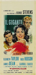 "Movie/TV Memorabilia:Posters, ""Giant"" Poster Lot (Warner Brothers, Various). Re-release FrenchGrande (47"" X 63""), re-release Italian Locandinos(... (Total: 4 Items)"