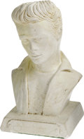 "Movie/TV Memorabilia:Original Art, James Dean Chalk Bust. Small, 6.5"" white chalk bust of James Dean,circa 1957 by Fine Arts Enterprises. In Excellent conditi..."