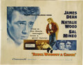 "Movie/TV Memorabilia:Posters, ""Rebel Without a Cause""/""Giant"" (Warner Brother, R-1957/R-1958).Half Sheet (22"" X 28"") and Spanish One Sheet (27.5"" X 39"")...."