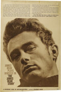 "Movie/TV Memorabilia:Posters, ""The James Dean Story"" (Warner Brothers, 1957). Poster (40"" X 60"").This is a rolled poster for the 1957 documentary about t..."